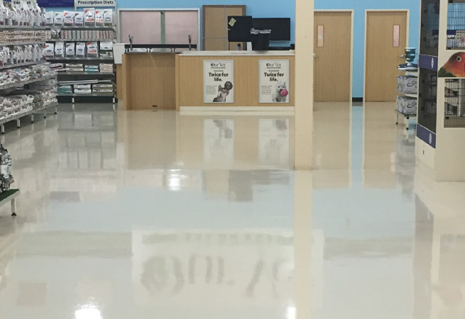 Retail Vinyl Floor Restoration